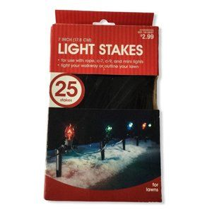 Holiday Light Stake Holder 25pc 7inch Outdoor